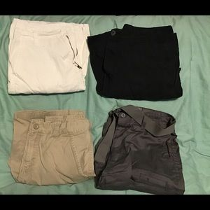 Lot of men's shorts size 32 black white tan gray